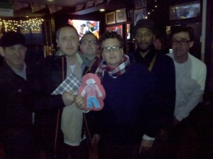 Yes, that's the legendary Boston band Mighty Mighty Bosstones with Flat Stanley. From August's 2011 report.