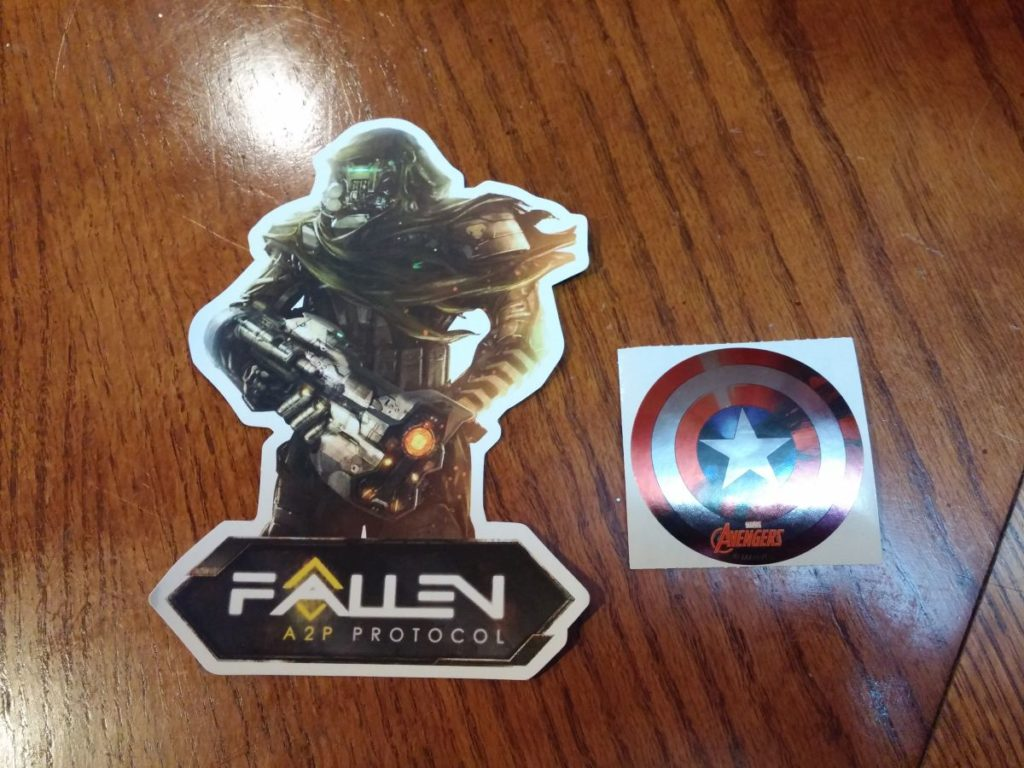 2016 april geek fuel avengers sticker and game